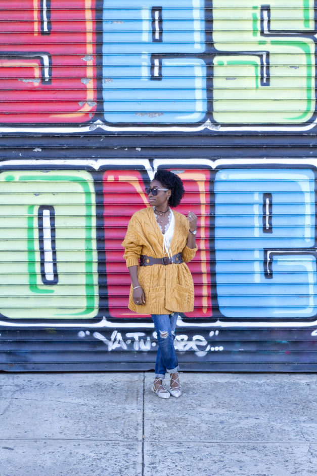 How To Wear An Over-Sized Chunky Cardigan