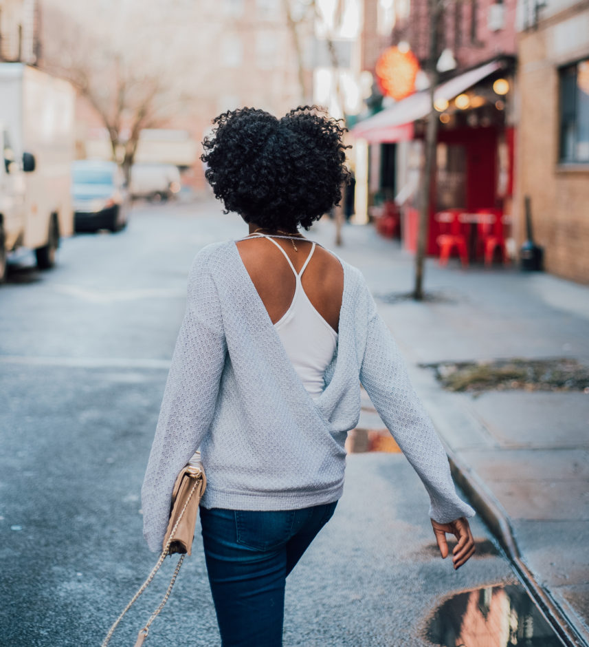 How To Wear An Open Back Top In Winter