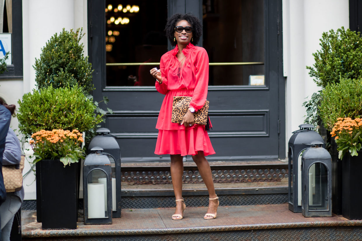 Red Frill Dress Worn Two Ways + Reality Check